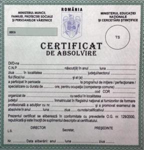 certificat de absolvire curs machiaj